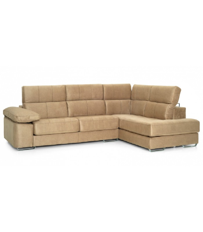 Sof cheslong milano 4 plazas viscoel stico for Sofa 4 plazas mas chaise longue