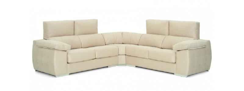 Granfort ® - Sofá rinconera RIMINI 5 plazas y estilo moderno
