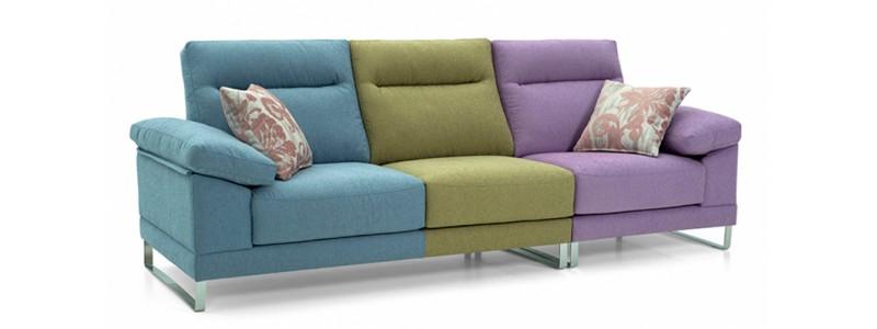 Granfort ® - Sofá 3 plazas RAGUSA multicolor con estilo moderno
