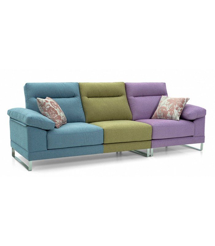 Sof 3 plazas ragusa multicolor con dise o actual - Artesanos del sofa ...