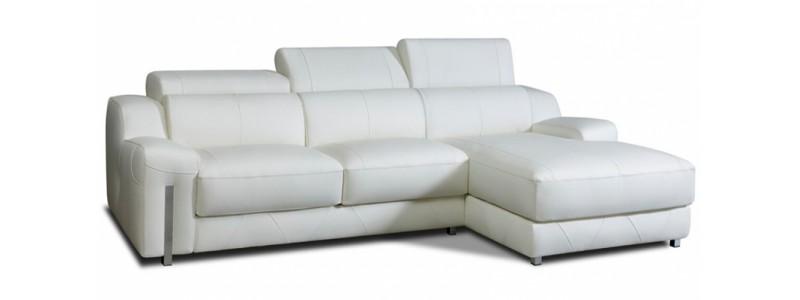 Sofas de piel granfort tiendas de sof s a medida granfort for Sofas chaise longue de piel