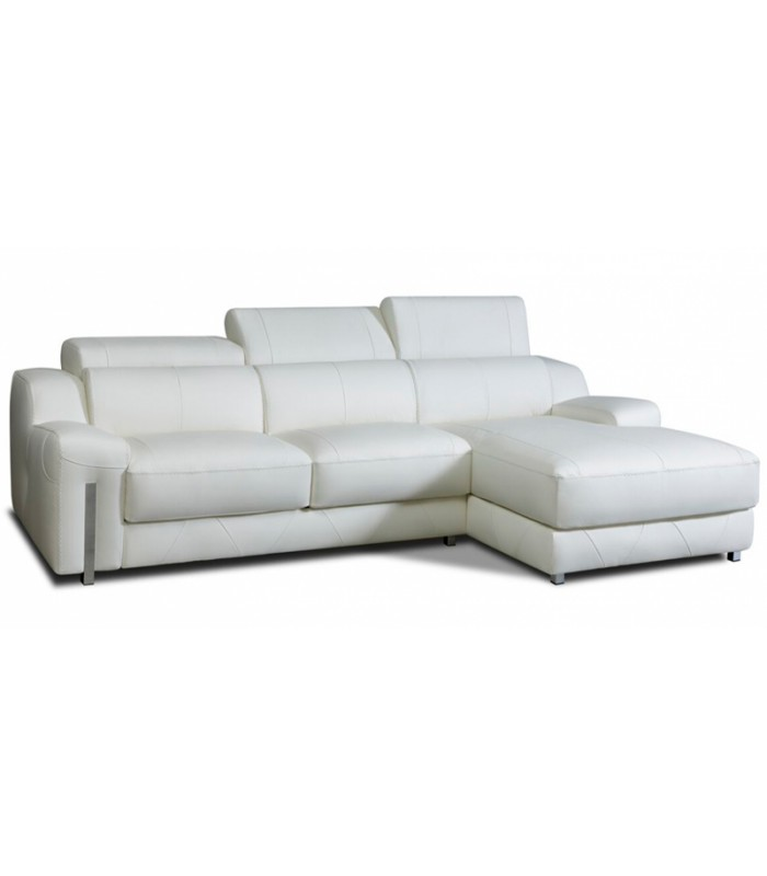Sof cheslonglazio de piel y dise o vanguardista for Sofa piel chaise longue