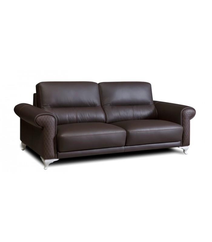 Sof de piel cl sico perugia - Artesanos del sofa ...