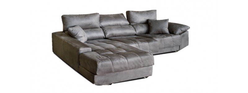 Granfort ® - Sofá chaiselongue VICENZA moderno con capitoné