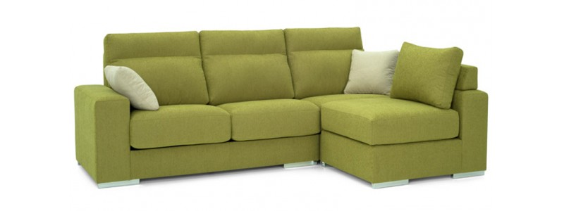 Granfort ® - Chaiselongue 3 plazas LECCO con puff reversible