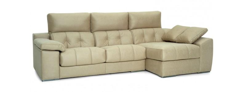 Sof cheslong savona con asientos reclinables for Medidas sofa cheslong