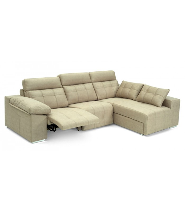 Sof cheslong relax motorizado napoli con capiton for Sofas granfort outlet