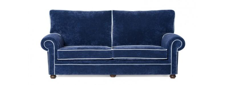 Granfort ® - Sofá clásico BIELLA tapizado tela tacto terciopelo