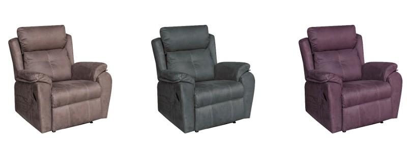 Granfort ® - Sillón relax MASSA tapizado en tela