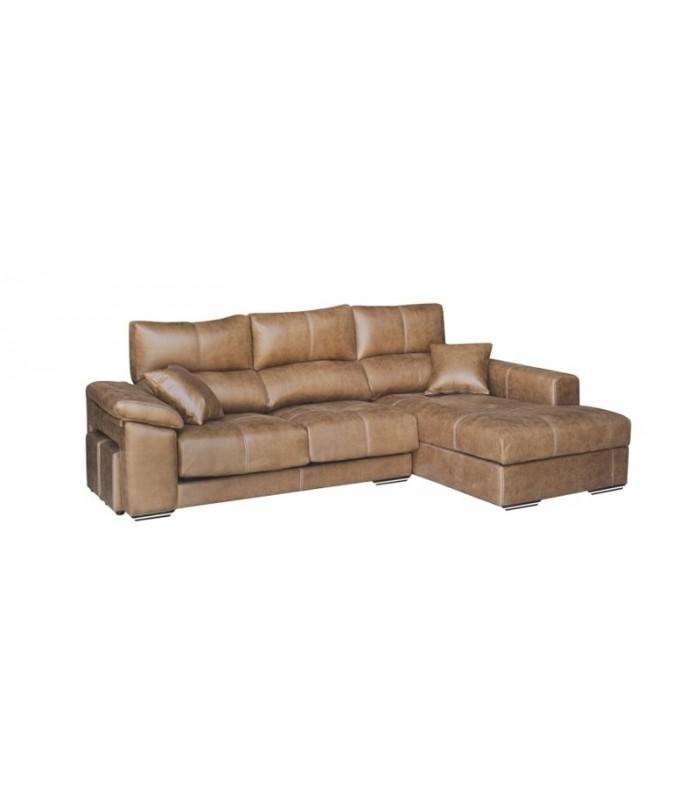 Sof cheslong livorno con puffs laterales - Artesanos del sofa ...