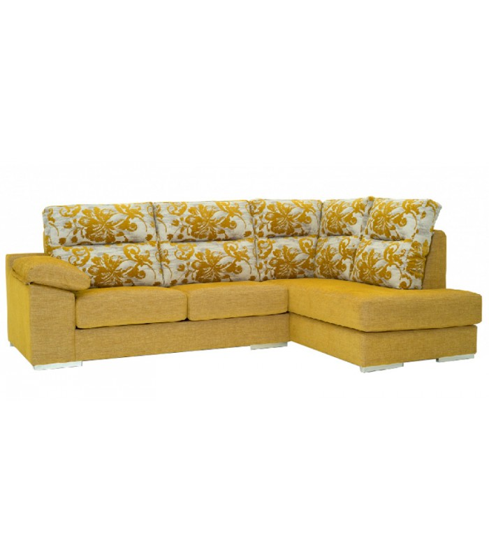 Cheslong como de 4 plazas con dise o rom ntico for Sofa 4 plazas mas chaise longue