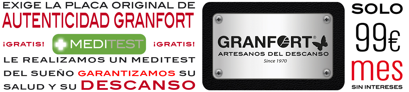 Granfort ® - Colchón Visco CAREDINE 1700